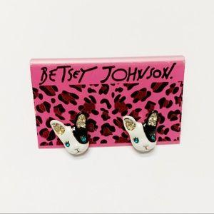 Betsey Johnson Frenchie Earrings